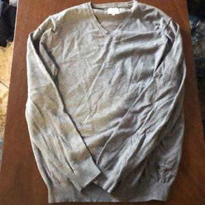 Men's grey pull over sweater
